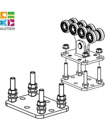 Подставка для роликовой опоры для ворот весом до 450 кг
