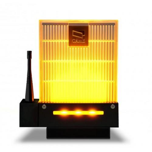 Сигнальная лампа Came DD-1KA с основанием и кронштейном для настенного монтажа, универсальная 230/24В (светодиодное освещение янтарного цвета)