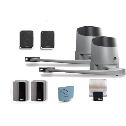 Комплект рычажных приводов для распашных ворот Nice HOPP/KCE BD (вес ворот до 250 кг, длина створки до 2,4 м.)