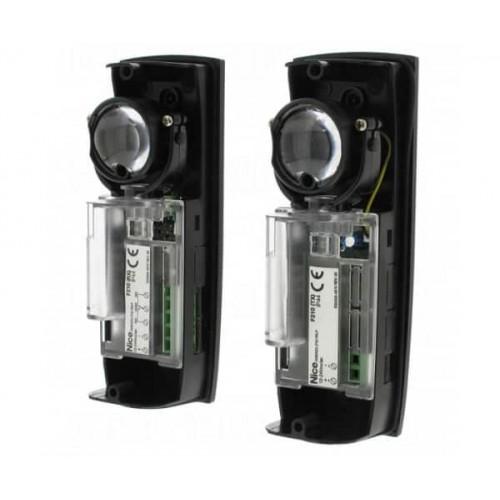 Фотоэлементы безопасности Nice BlueBUS F210B накладные, ориентируемые, с поворотной оптикой на 210°, приемник и передатчик.