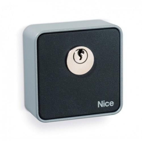 Замковый выключатель Nice EKS для наружной установки. Сверхтонкий, толщина 13мм