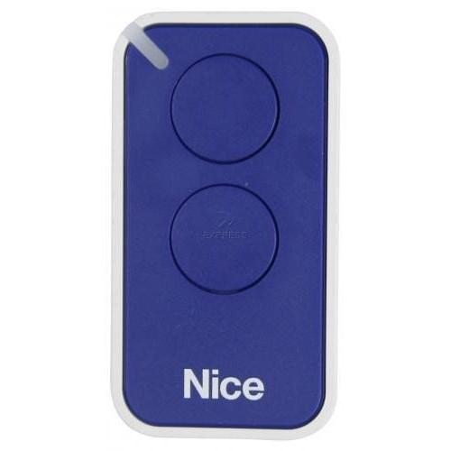 Пульт дистанционного управления 2-х канальный, динамический код NICE INTI2B синий