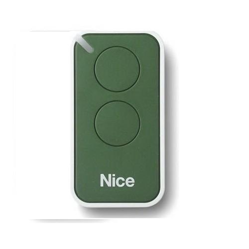 Пульт дистанционного управления 2-х канальный, динамический код NICE INTI2G зеленый