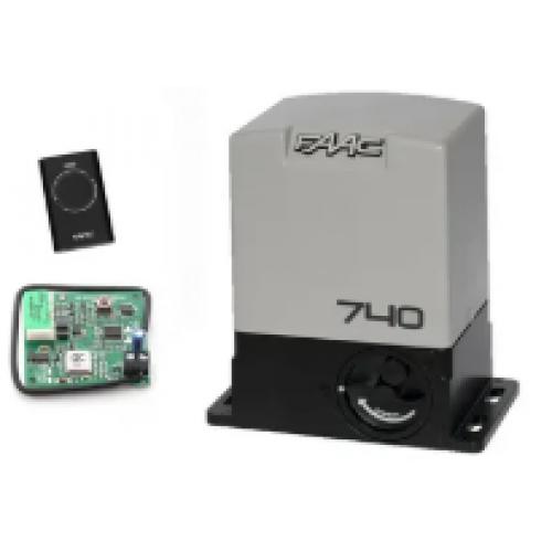 Комплект автоматики FAAC 740 KIT для откатных ворот, вес ворот до 500 кг